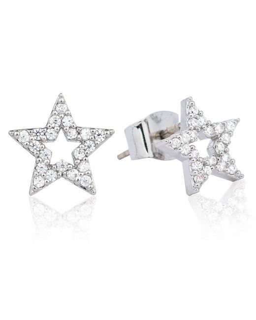 Astrid & Miyu - Metallic Tricks Star Stud Earrings Silver - Lyst