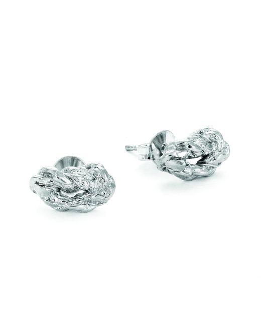 Chupi | Metallic Forget Me Knot Stud Earrings In Silver | Lyst