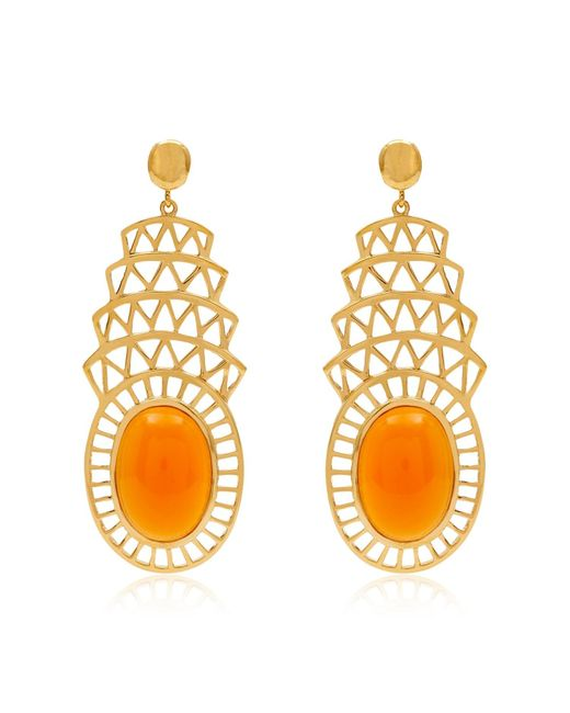 Alexandra Alberta | Metallic Khrysler Light Orange Carnelian Earrings | Lyst