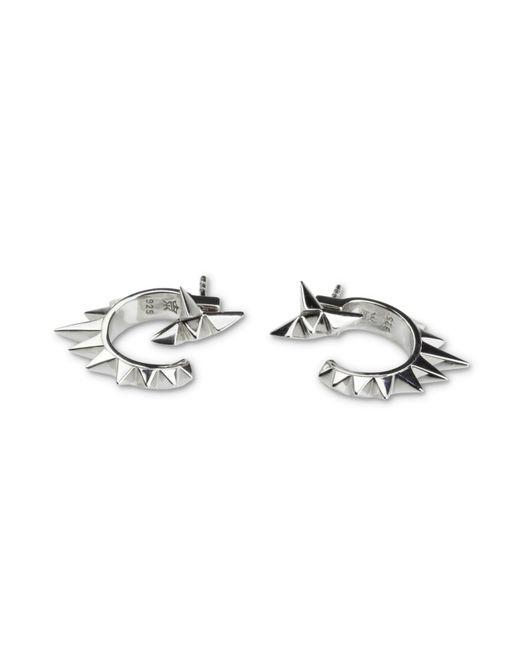 Kasun   Metallic Vortex Silver Earrings   Lyst