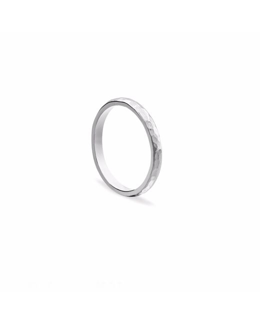 Myia Bonner - Metallic Silver Classic Hammered Ring - Lyst