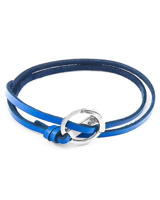 Anchor & Crew - Royal Blue Ketch Silver & Leather Bracelet - Lyst