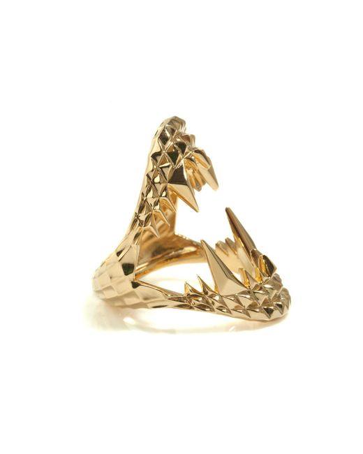 Kasun - Metallic Vampire Bite Ring Gold - Lyst