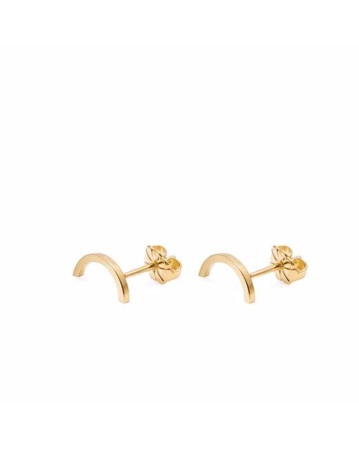 Myia Bonner   Metallic Gold Mini Arc Stud Earrings   Lyst
