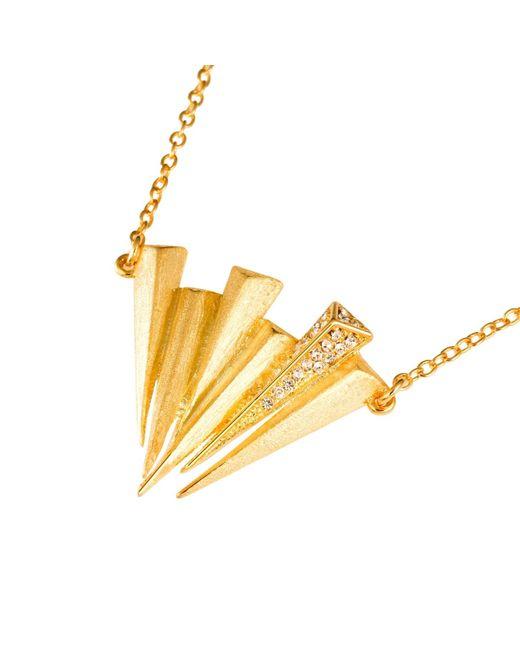 Ona Chan Jewelry | Metallic Six Dagger Necklace With Swarovski Crystals Gold | Lyst
