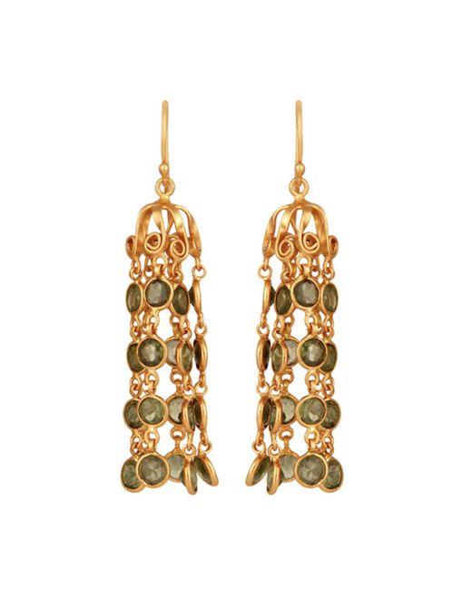 Carousel Jewels - Green Dome Waterfall Earrings With Peridot - Lyst