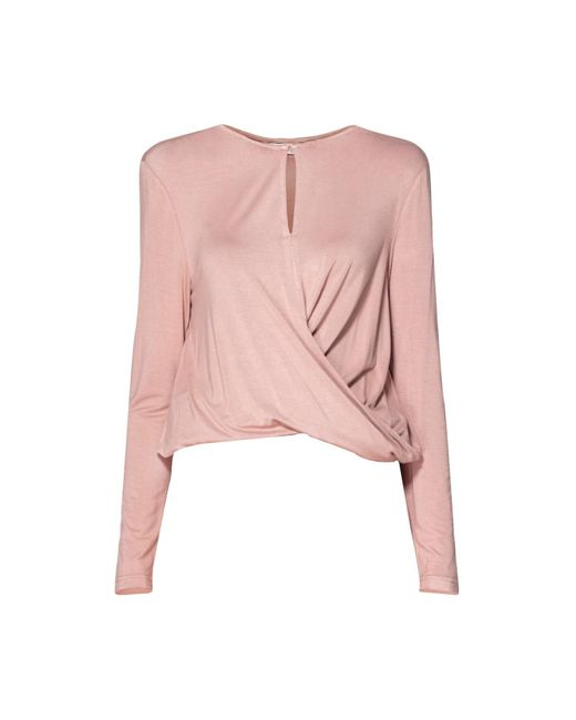 Paisie | Pink Jersey Top With Wrap Waist Detail In Blush | Lyst