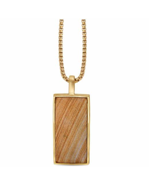 LMJ - Metallic Wood Jasper Stone Tag for Men - Lyst