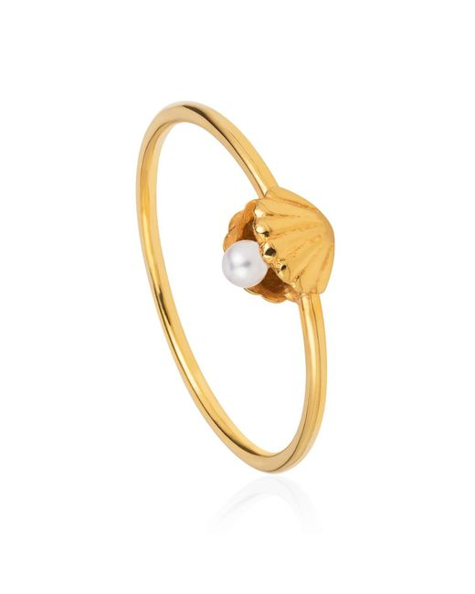 Lee Renee | Multicolor Shell & Pearl Ring Gold Vermeil | Lyst