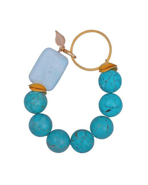 Magpie Rose - Blue Turquoise & Vermeil Bracelet - Lyst