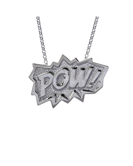 Edge Only | Metallic Pow Pendant Extra Large Long In Silver | Lyst