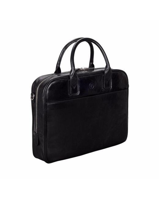 Maxwell Scott Bags Black Leather Laptop Briefcase Bag Calvino For Men Lyst