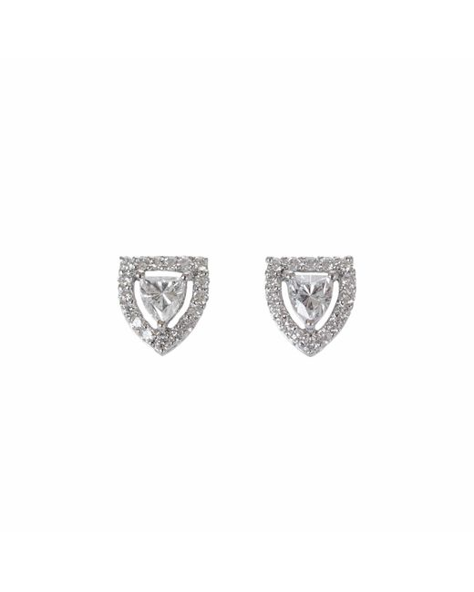 Ri Noor - Metallic Fancy Shield Shape Diamond Stud Earrings - Lyst