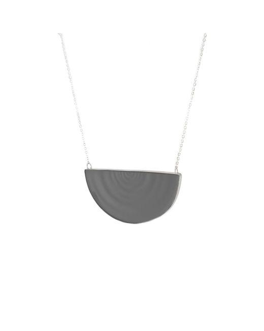 MARIE JUNETM Jewelry - Half Ripples Smoky Black Pendant - Lyst