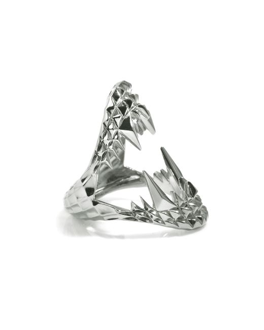 Kasun | Metallic Vampire Bite Ring Silver | Lyst