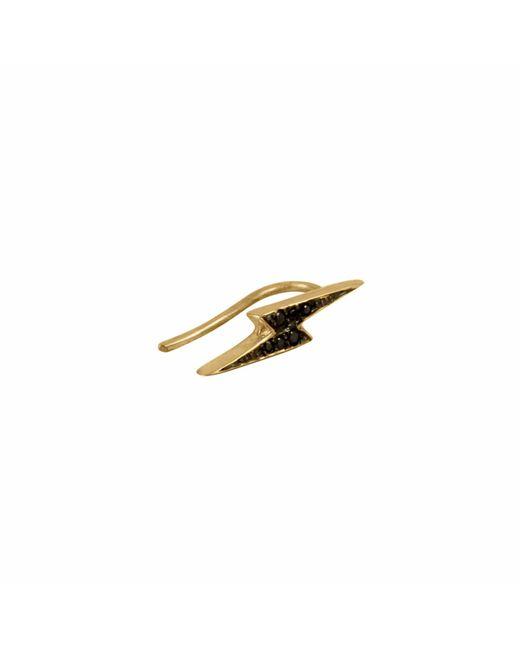 No 13 | Lightning Bolt Black Diamond Single Slider Earring | Lyst