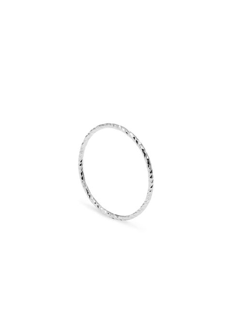 Myia Bonner | Metallic Silver Ultra Skinny Diamond Stacking Ring | Lyst