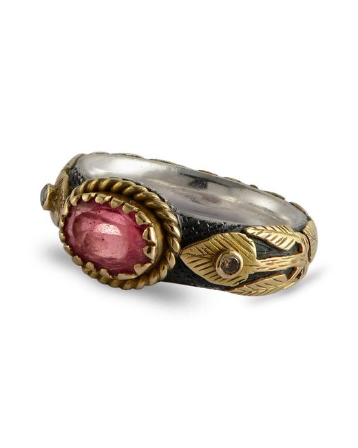 Emma Chapman Jewels | Multicolor Pink Sapphire & Diamond Treasure Gold Ring | Lyst