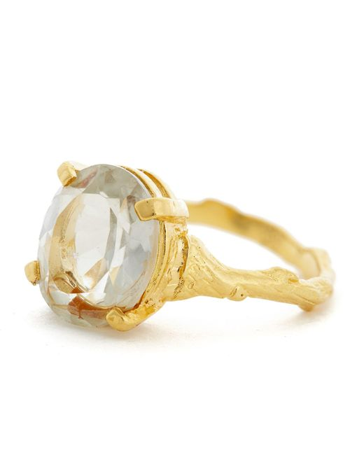 Chupi - Metallic Drop In The Wild Ring Moonstone In Gold - Lyst