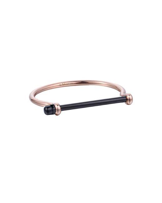 Opes Robur   Metallic Rose Gold & Black Bracelet   Lyst