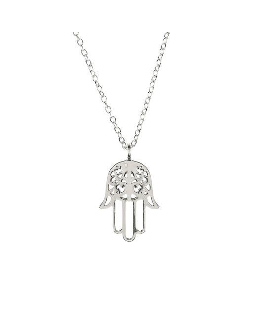Latelita London | Metallic Cosmic Hamsa Necklace Silver | Lyst