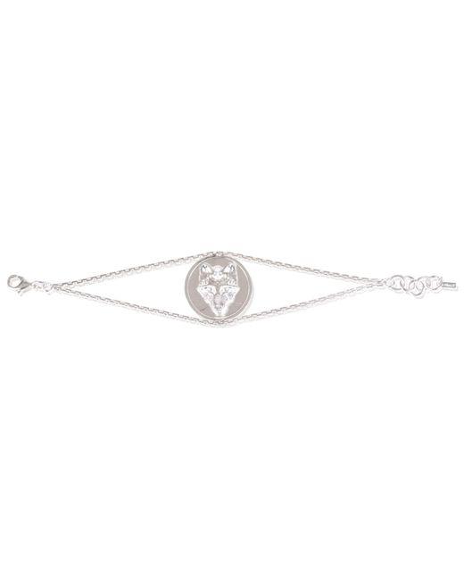 Alexa K   Metallic Wolf Disc Bracelet Silver   Lyst