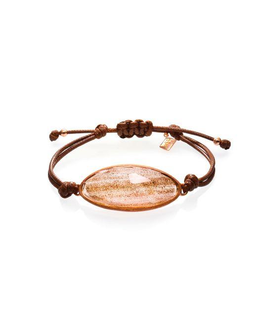 Ona Chan Jewelry | Metallic Lattice Corded Bracelet Gold | Lyst