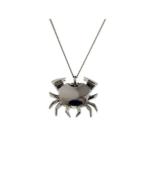 Origami Jewellery - Black Crab Necklace Gun Metal - Lyst