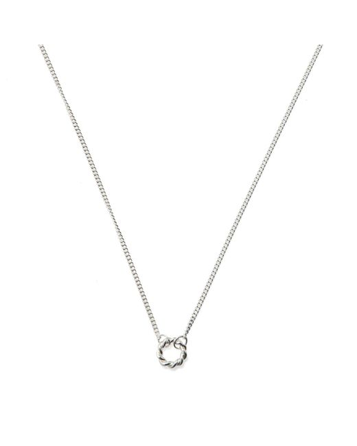 Isabel Lennse | Metallic Extra Small Twisted Circle Necklace | Lyst