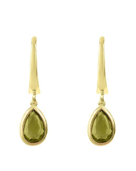 Latelita London - Metallic Pisa Mini Teardrop Earring Gold Peridot - Lyst