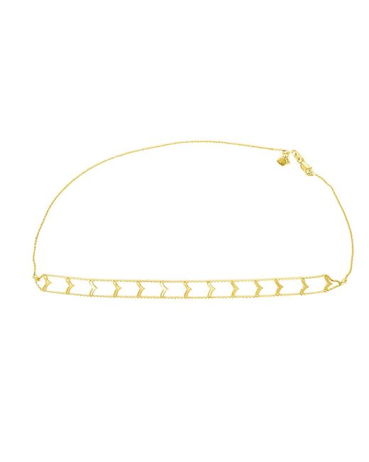 Talia Naomi | Metallic Gold Arrow Adjustable Choker Gold | Lyst