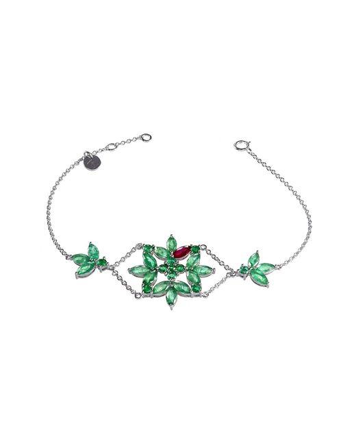 Joana Salazar | Green Emerald Blossom Large Bracelet | Lyst