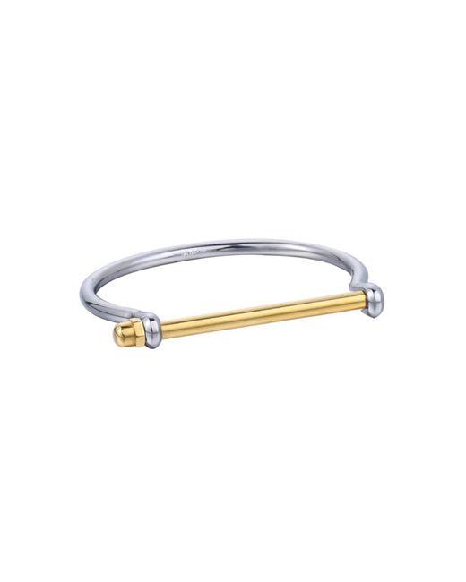 Opes Robur - Metallic Silver & Gold Cuff Bracelet - Lyst