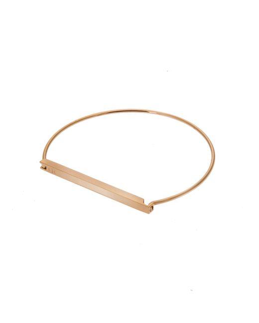 Opes Robur | Metallic Gold Slim Plaque Bracelet | Lyst
