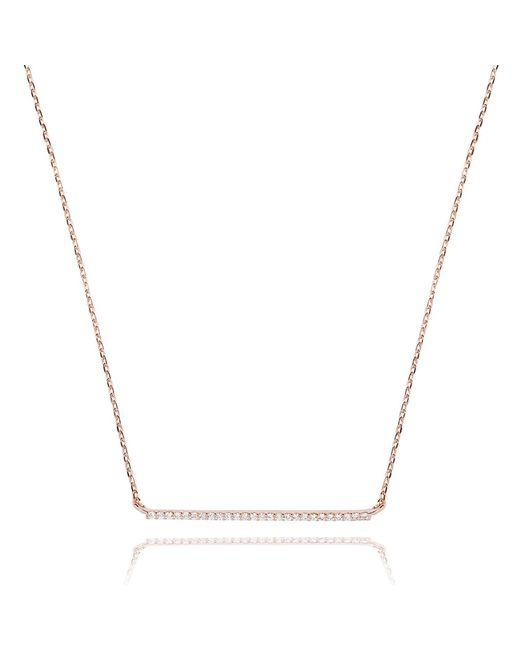 Astrid & Miyu - Metallic Walk The Line Big Bar Necklace In Rose Gold - Lyst