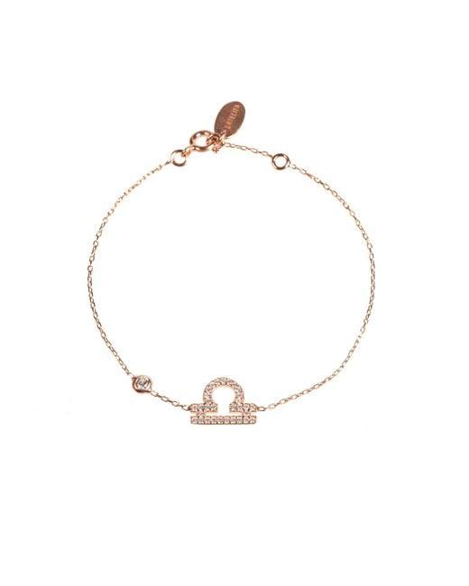 Latelita London | Metallic Zodiac Bracelet Rosegold Libra | Lyst
