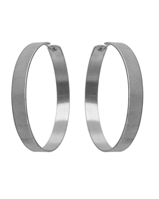 Dutch Basics - Metallic Large Creole Earrings - Lyst