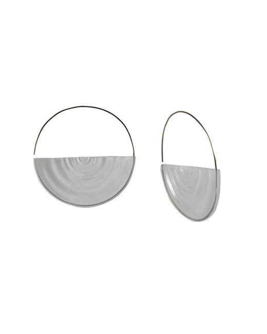 MARIE JUNETM Jewelry - Metallic Half Ripples Clear Hoops - Lyst