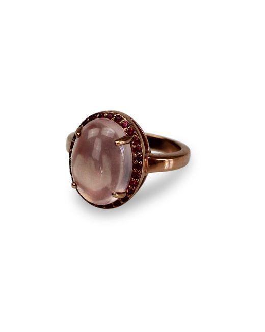 Bellus Domina   Multicolor Ruby & Rose Quartz Zenith Ring   Lyst