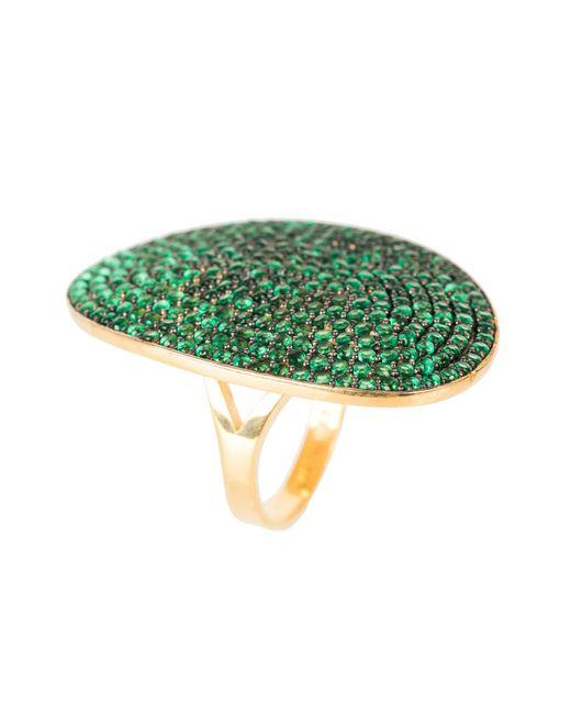 Latelita London - Multicolor St Tropez Ring Gold Emerald Zircon - Lyst