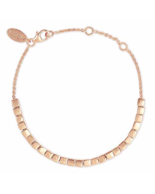 Neola - Metallic Rose Gold Cube Bracelet - Lyst