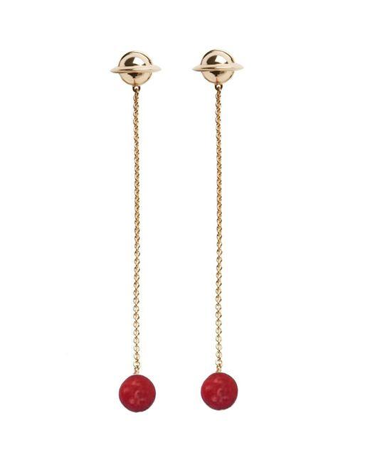 Eshvi - Galaxy Red Earrings - Lyst
