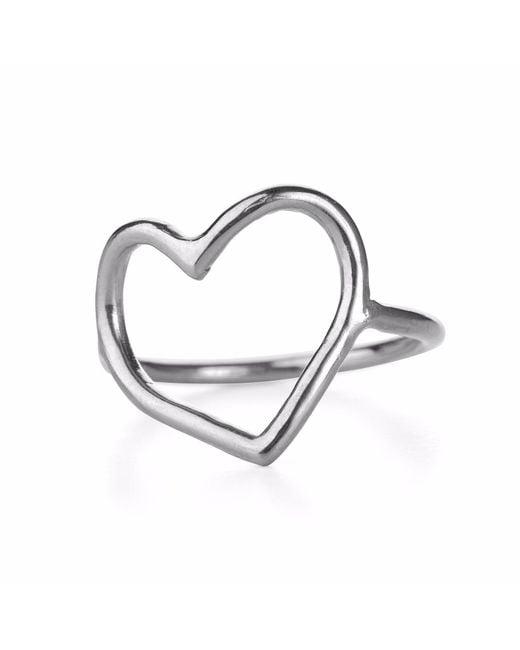 Chupi - Metallic My Heart Is Open Ring Silver - Lyst