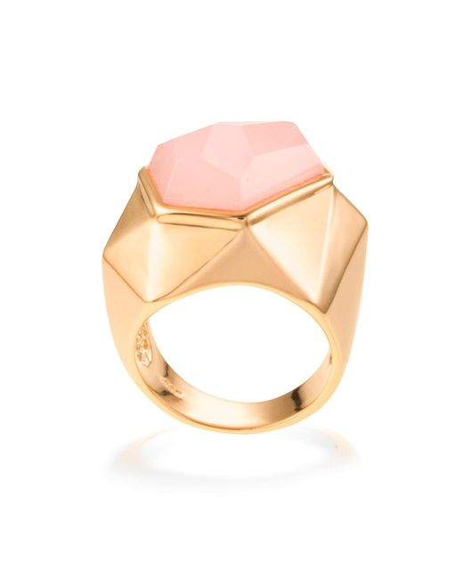 Ona Chan Jewelry | Pink Lattice Cocktail Ring Rose Quartz | Lyst