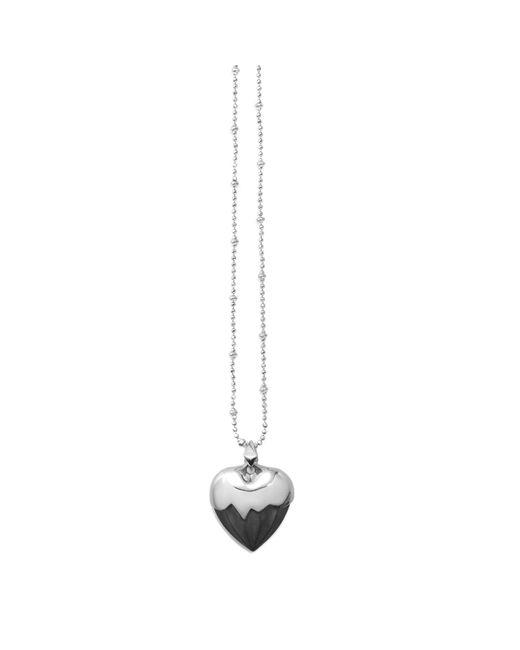 Kasun | Metallic Black Heart Pendant Silver | Lyst