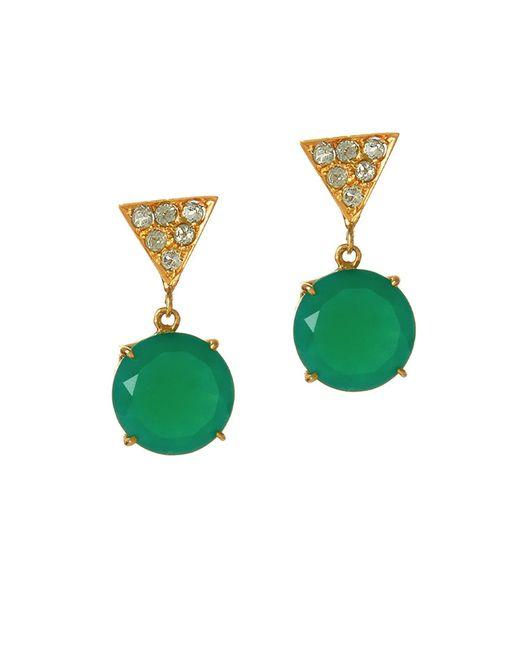Alexandra Alberta - Green Twiggy Chalcedony Earrings - Lyst