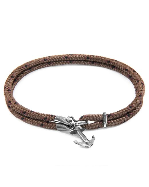 Anchor & Crew - Metallic Brown Brighton Silver & Rope Bracelet for Men - Lyst