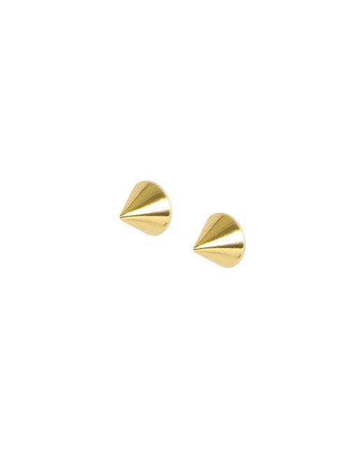 Matthew Calvin - Metallic Point Studs Gold - Lyst