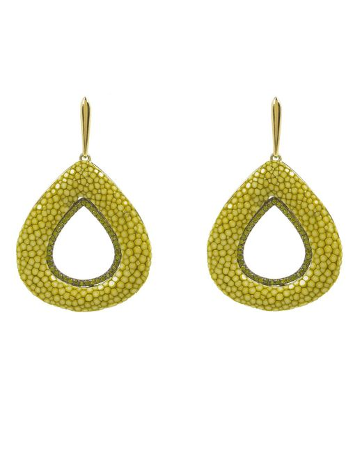 Latelita London - Multicolor Stingray Hollow Tear Earring Kiwi - Lyst