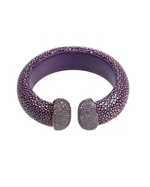Latelita London | Purple Stingray Cuff Plum & Amethyst | Lyst